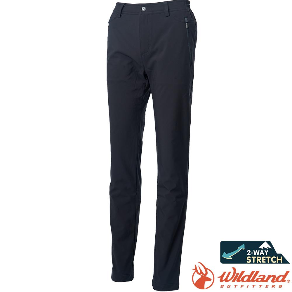 Wildland 荒野 0A62313-54黑色 女彈性輕薄防風防潑長褲