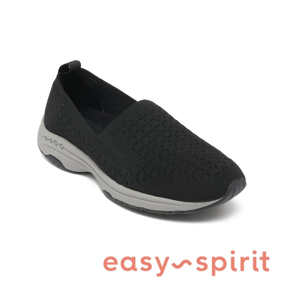 Easy Spirit-seTECH2 舒適輕量懶人休閒鞋-黑色