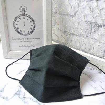 TEMARIYA 日本製 可水洗手作立體口罩L(素色)-黑