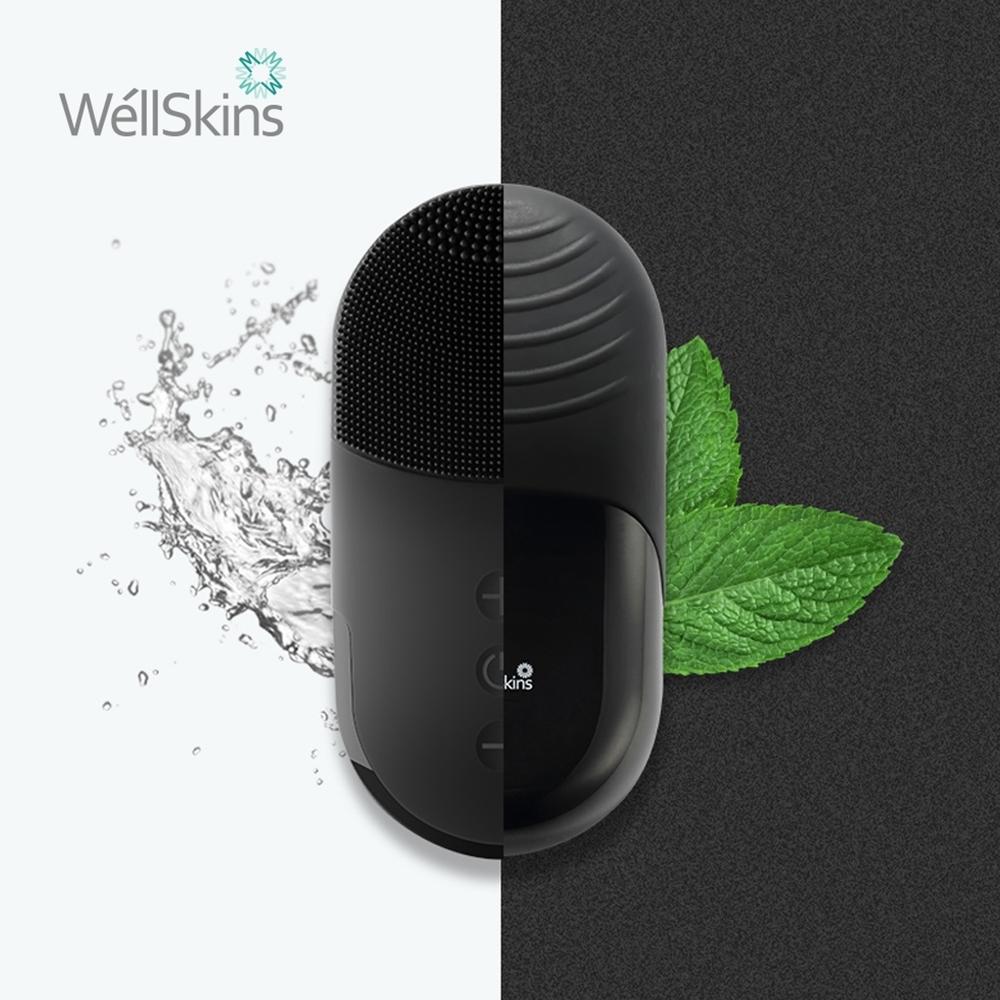 [送清潔組] WellSkins 薇新 多功能潔面儀-黑 WX-JM02