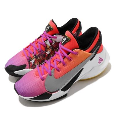 Nike 籃球鞋 Zoom Freak 2 運動 男鞋 氣墊 避震 明星款 包覆 球鞋 字母哥 紅 紫 DB4738600