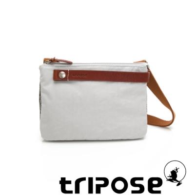 tripose 漫遊系列岩紋輕巧可拆式雙層斜揹小包 貴族灰