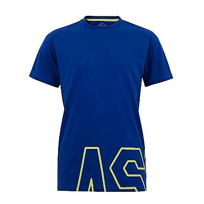 ASICS 男棉感短袖上衣(藍) 2031A868-101