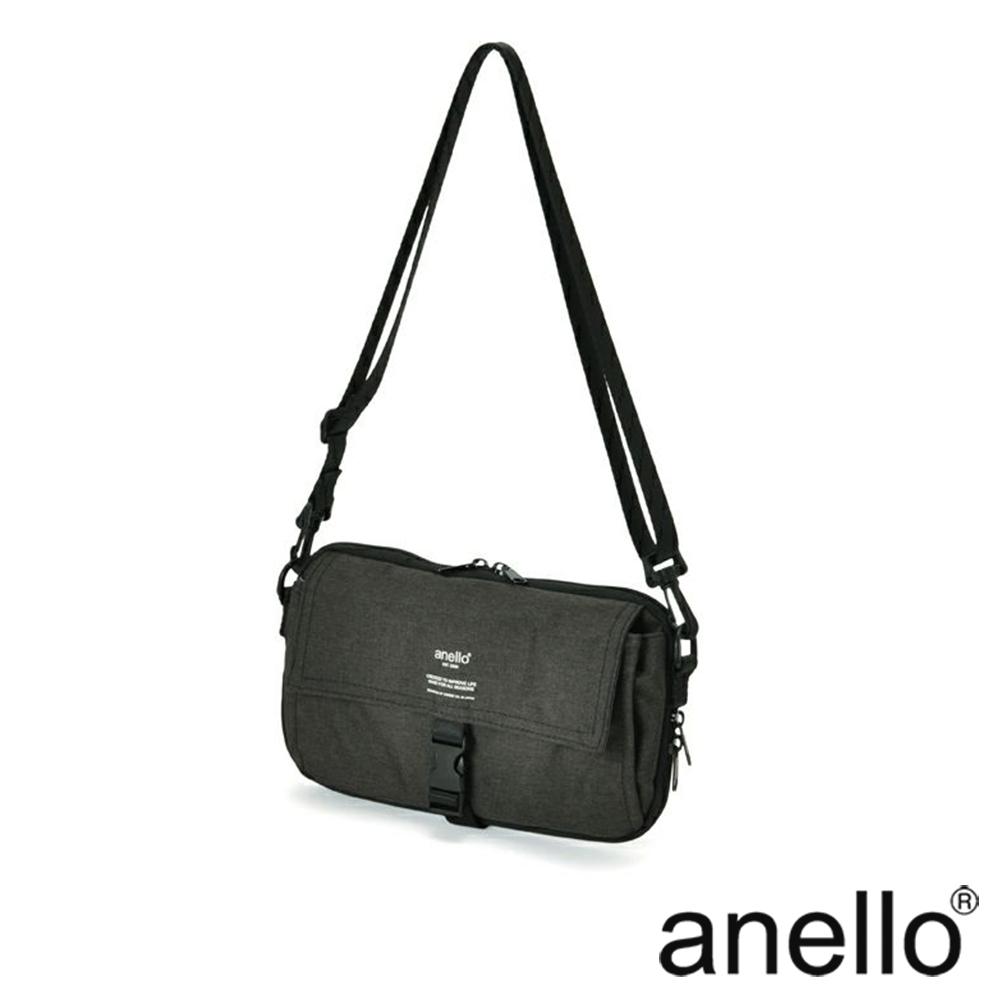 anello THE DAY 多收納輕巧斜背包 黑色