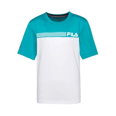 FILA 男抗UV吸濕排汗T恤-白色 1TET-5001-WT