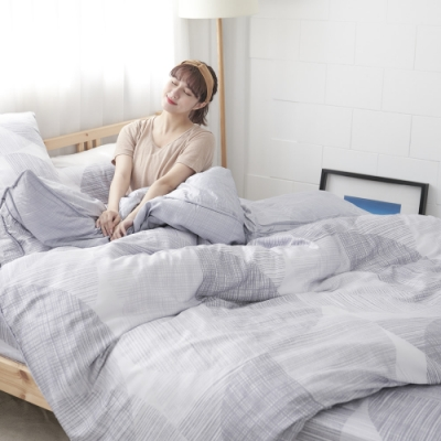 BUHO 100%TENCEL天絲床包枕套組-單人(清謐夜思)