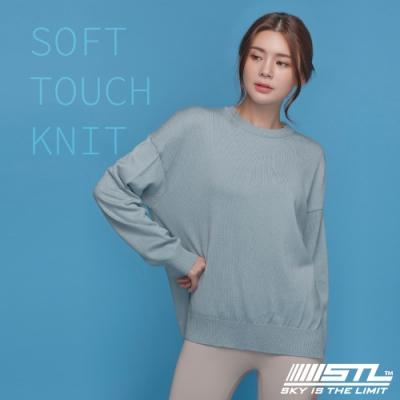 STL yoga FINE KNIT SOFT TOUCH 韓國 氣質柔軟 長版長袖 針織衫上衣 粉霧陽光藍