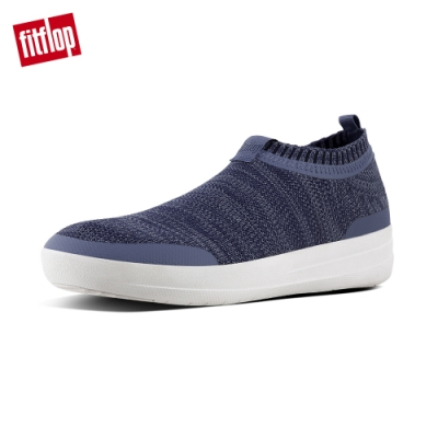 FitFlop UBERKNIT SLIP-ON SNEAKERS 粉藍