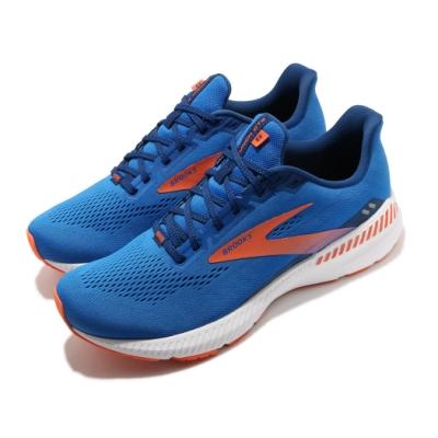 Brooks 慢跑鞋 Launch GTS 8 運動 男鞋 路跑 緩震 DNA科技 透氣 健身 球鞋 藍 橘 1103591D463
