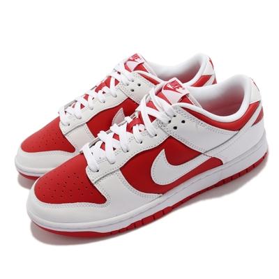 Nike 休閒鞋 Dunk Low Retro 運動 男鞋 經典款 反轉白紅 皮革 球鞋 滑板 穿搭 白 紅 DD1391-600