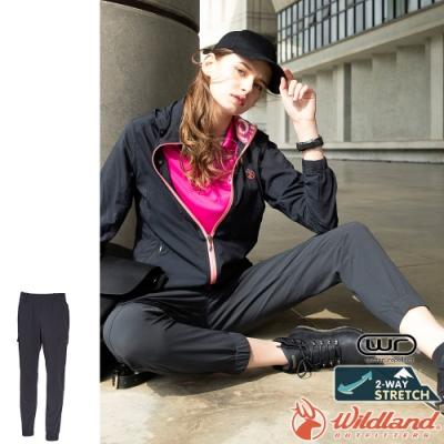 Wildland 荒野 0A71339-99深霧灰 女彈性貼袋束口休閒褲