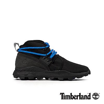 Timberland 男款黑色皮革拼接Brooklyn休閒靴|A2BU2
