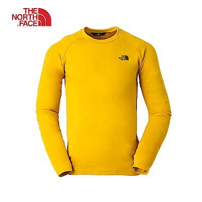 The North Face北面男款黃色保暖長袖上衣|3L9ZVB6