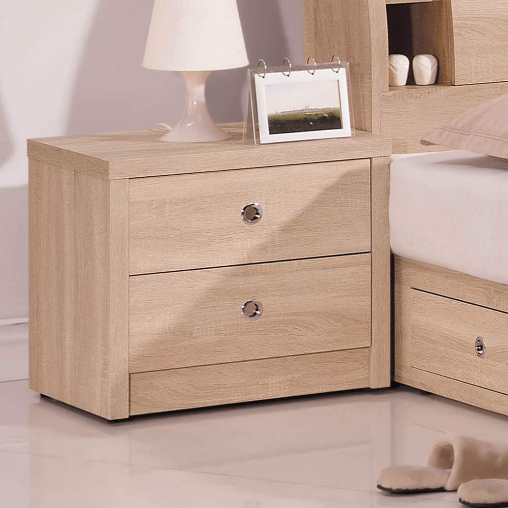 H&D 橡木床頭櫃