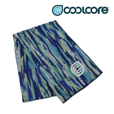 【COOLCORE】 CHILL SPORT 涼感運動巾 海洋藍 BRUSH OCEAN