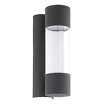 EGLO歐風燈飾 現代黑LED圓筒式美型壁燈