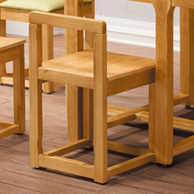 H&D 方形板面餐椅