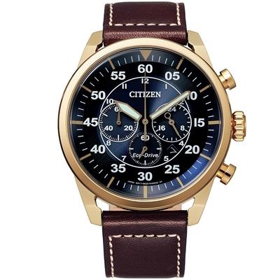 CITIZEN星辰 光動能紳士三眼計時手錶-45mm(CA4213-26L)