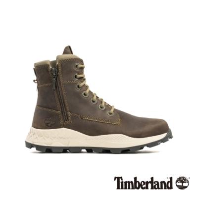 Timberland 男款橄欖色全粒面革側拉鍊靴|A2726