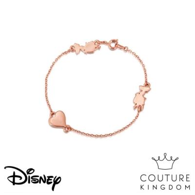 Disney Jewellery by Couture Kingdom 愛麗絲夢遊仙境愛心玫瑰金手鍊