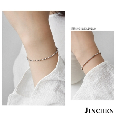 JINCHEN 純銀簡約珠珠手鍊