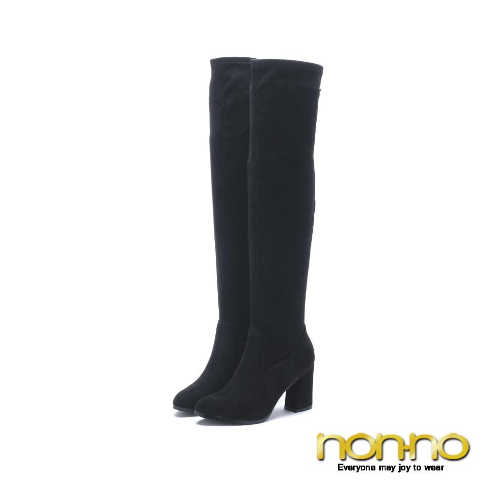 nonno 諾諾 聖誕風氣質長靴 黑