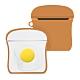 AirPods 1/2 代通用 藍牙耳機 保護套 雞蛋吐司 可愛造型 保護殼-雞蛋吐司*1 product thumbnail 1