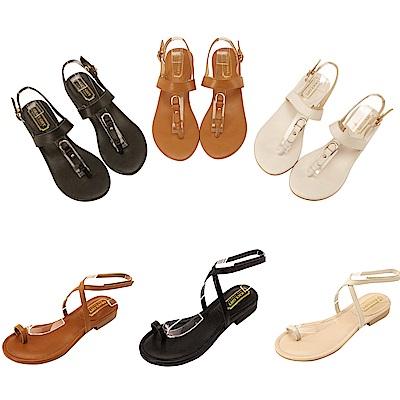 [時時樂限定]Grace gift-真皮款涼鞋均一價$899