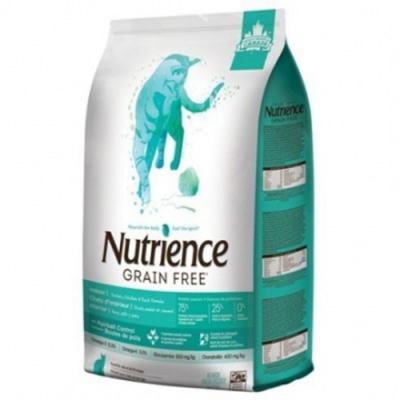 加拿大Nutrience紐崔斯GRAIN FREE無穀養生室內貓-火雞肉+雞肉+鴨肉(放養鴨&漢方草本) 2.5kg(5.5lbs) (NT-F2551) 兩包組