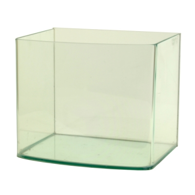 《極簡風格》圓滑弧邊海灣造型玻璃水族箱空缸-6吋