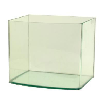 《極簡風格》圓滑弧邊海灣造型玻璃水族箱空缸-7吋