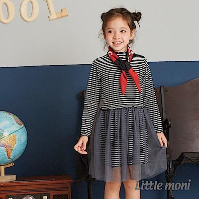 Little moni 拼接紗裙洋裝(2色可選)