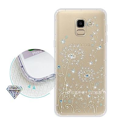 浪漫彩繪 Samsung Galaxy J6 水鑽空壓氣墊手機殼(風信子)