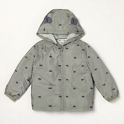 PIPPY 小熊造型風衣外套-綠
