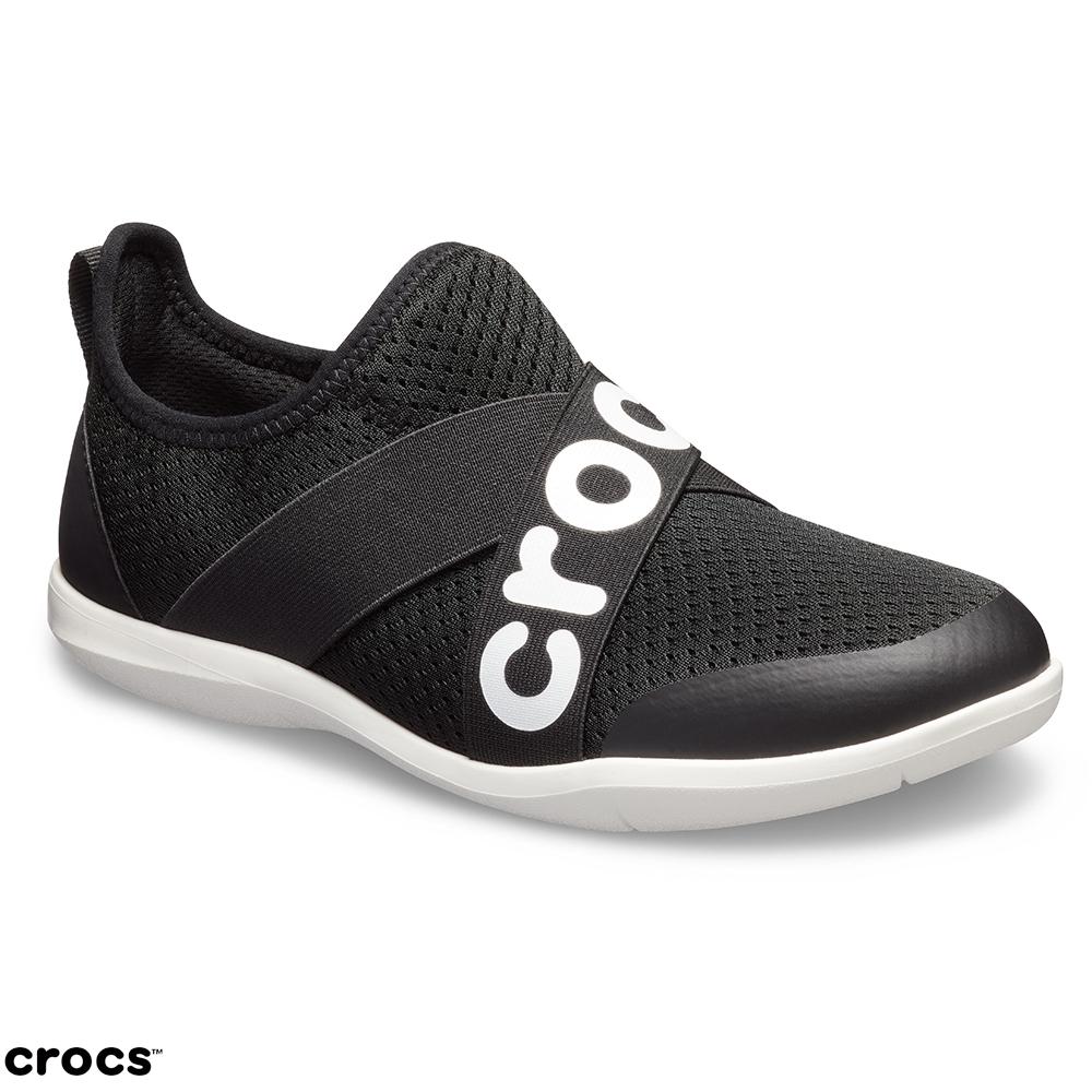 Crocs 卡駱馳 (女鞋) 女士激浪束帶鞋LOGO款 205416-001