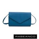 RABEANCO 迷時尚系列牛皮兩用信封包 牛仔藍