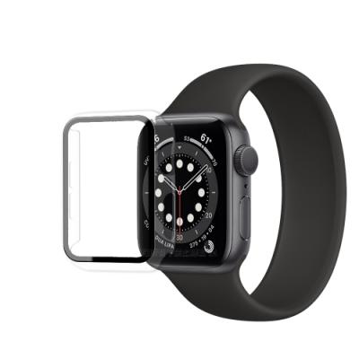 全包覆經典系列 Apple Watch Series SE/6 (40mm) 9H鋼化玻璃貼+錶殼 一體式保護殼(透明)