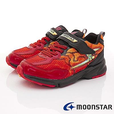 日本月星頂級競速童鞋 閃電3E運動系列 EI612紅(中大童段)