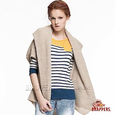 BRAPPERS 女款 兩穿造型針織外罩衫-米杏