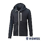 K-SWISS Traning Zip Up運動外套-男-黑