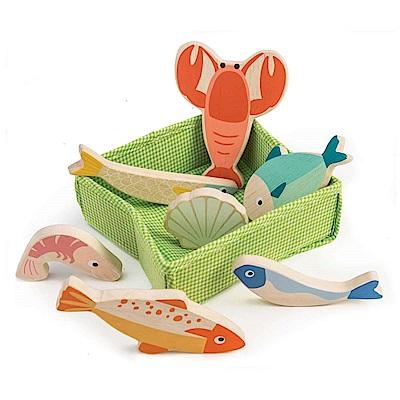 Tender Leaf Toys木製家家酒玩具-龍蝦海鮮玩具組