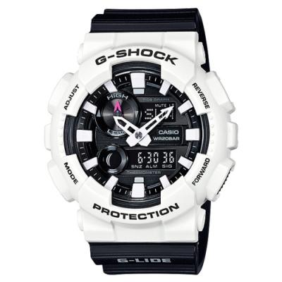 CASIO 卡西歐G-SHOCK質感耀眼耐衝擊手錶-黑白(GAX-100B-7A)