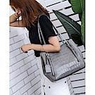 leaper時尚大容量鱷魚紋托特包單肩包 共3色