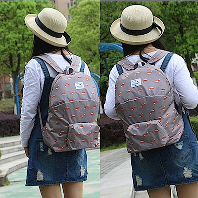 E.City_加厚款可愛動物圖案防水折疊背包