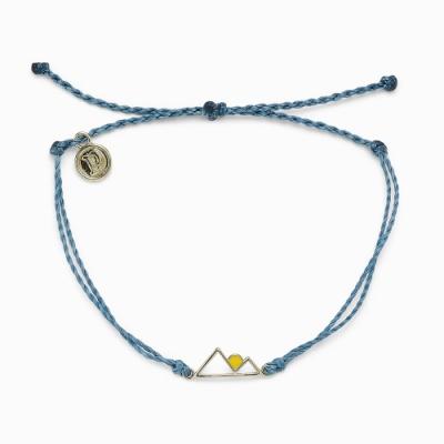Pura Vida 美國手工 SUNRISE 金色日出 灰藍色蠟線衝浪手鍊手環
