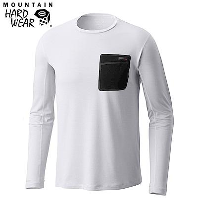 Mountain Hardwear 男款-防曬50快乾柔質長袖上衣-白色