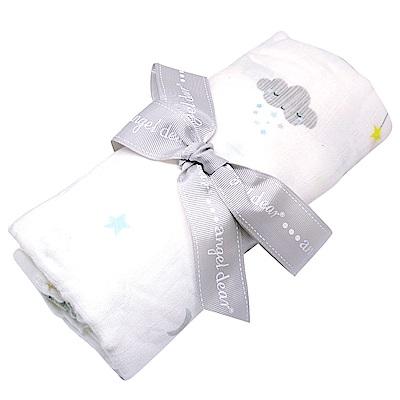 美國 Angel Dear 竹纖維嬰幼兒包巾禮盒 (星星月光)
