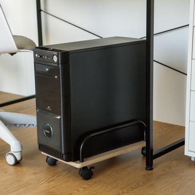 完美主義 工業風滑輪主機架+簡約時尚電腦螢幕架組合(6種顏色搭配)