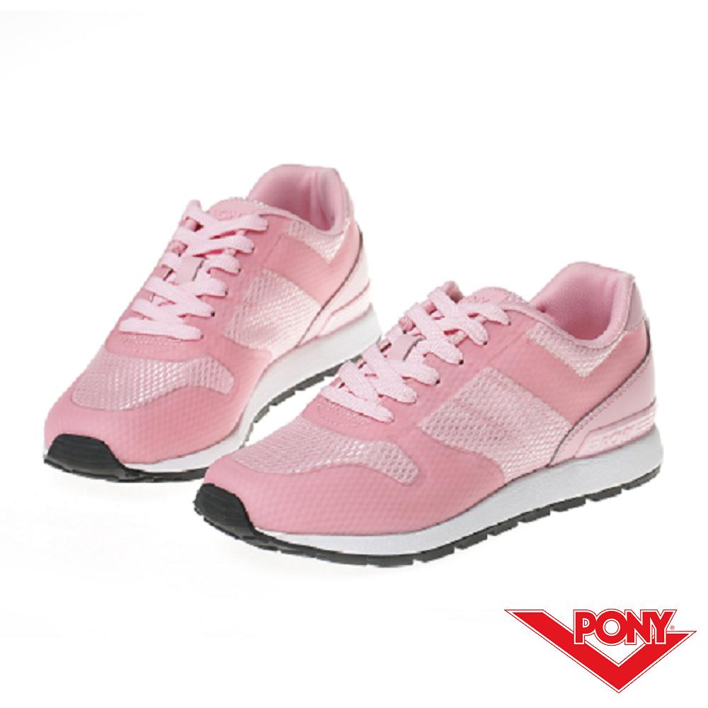 【PONY】SOLA 系列-粉彩系列復古休閒鞋-女-粉
