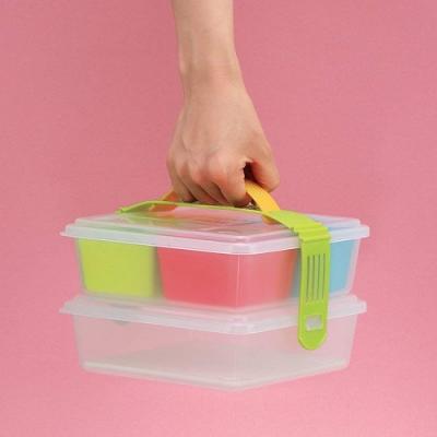 日本製造INOMATA手提式小型雙層野餐盒